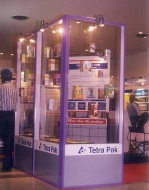 Modular exhibition stall for Tetra pak